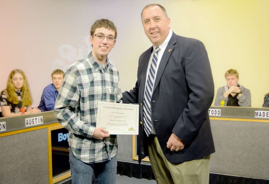 Mark Sheppard, of Bad Axe High School, competed in WCMU Public Television's Quiz Central. Photo: Submitted Photo