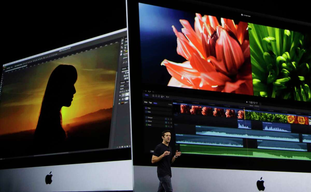 Apple's John Ternus speaks during an announcement of new products at the Apple Worldwide Developers Conference in San Jose, Calif., Monday, June 5, 2017. (AP Photo/Marcio Jose Sanchez) ORG XMIT: CAJC125