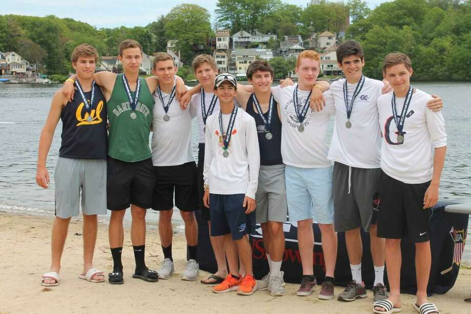Greenwich Crew's men's varsity eight boat qualified to compete in the USRowing Youth National Championships this weekend in Sarasota, Fla., after excelling at the Northeast Youth Rowing Championships recently. Photo: Contributed Photo