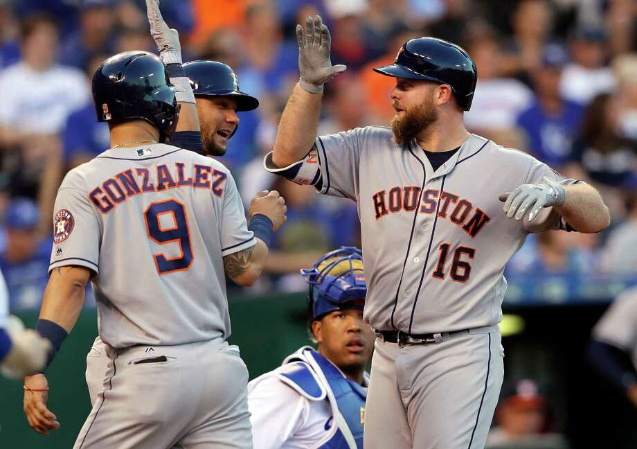 Incredibly, the Astros have extracted from their Nos. 7, 8 and 9 batters a better on-base plus slugging percentage (.841 entering Wednesday) than the major league average for teams' Nos. 3 through 6 batters (.786). Photo: Jamie Squire, Getty Images / 2017 Getty Images