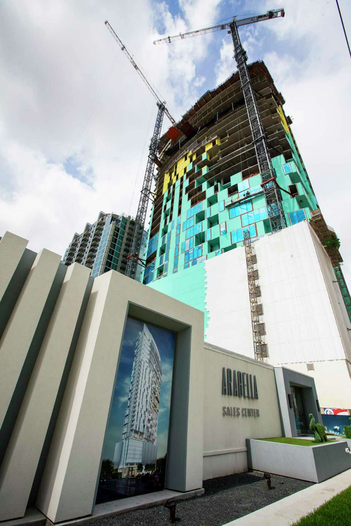 Arabella, condominium tower, is shown on Friday, June 2, 2017, in Houston. Arabella is one of the newest high-rise condominium towers being developed in the Galleria area.