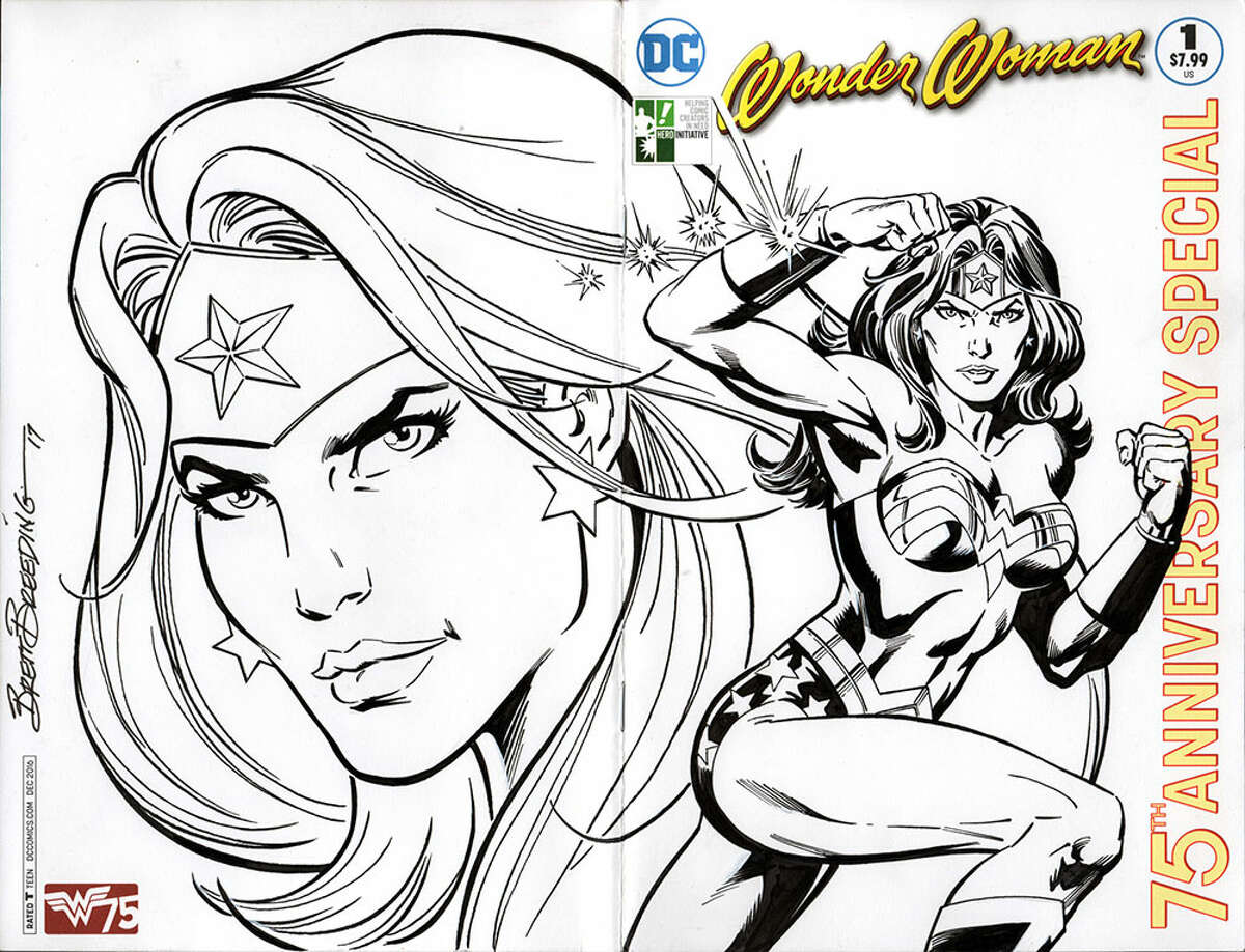 """Cover by artist Brett Breeding for DC Entertainment's """"Wonder Woman 100 Project."""""""