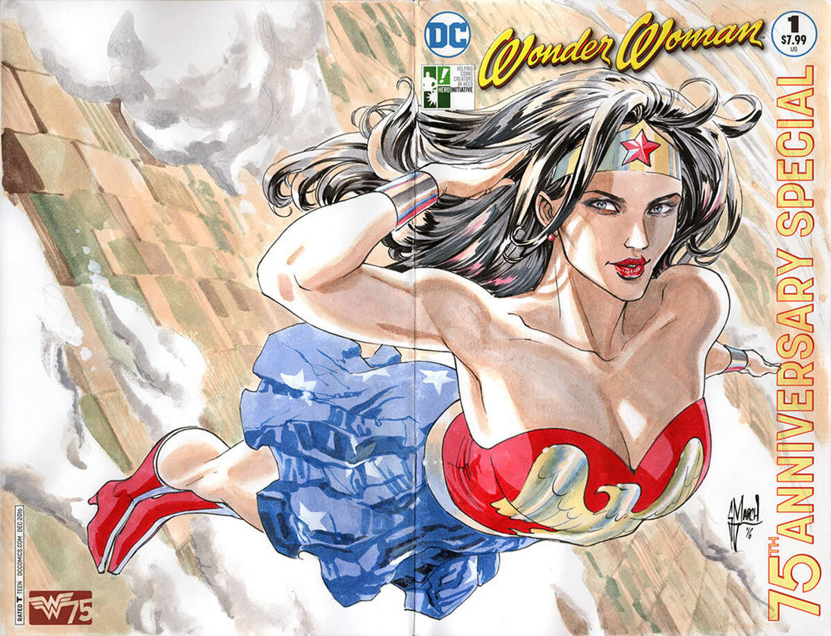 """Cover by artist Guillem March for DC Entertainment's """"Wonder Woman 100 Project."""""""