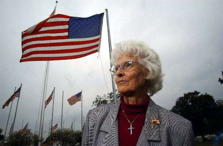 Pat Wood said her work at the cemetery was her way of giving back to America.