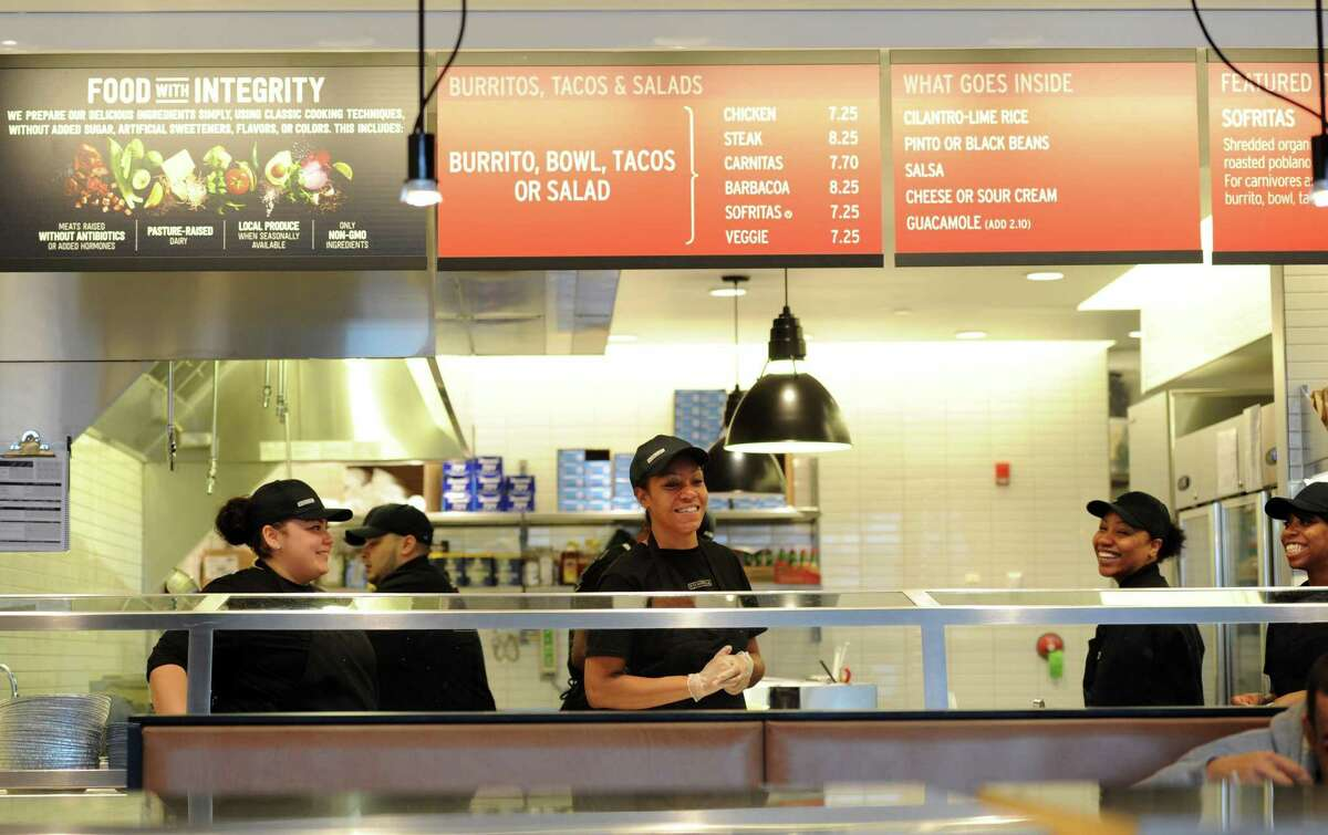 The new Chipotle restaurant and Starbucks have opened at Steel Point Harbor in Bridgeport, Conn.