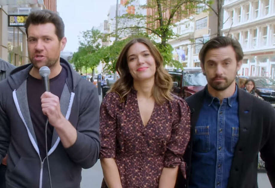 This Is Us stars hit the street with Billy Eichner