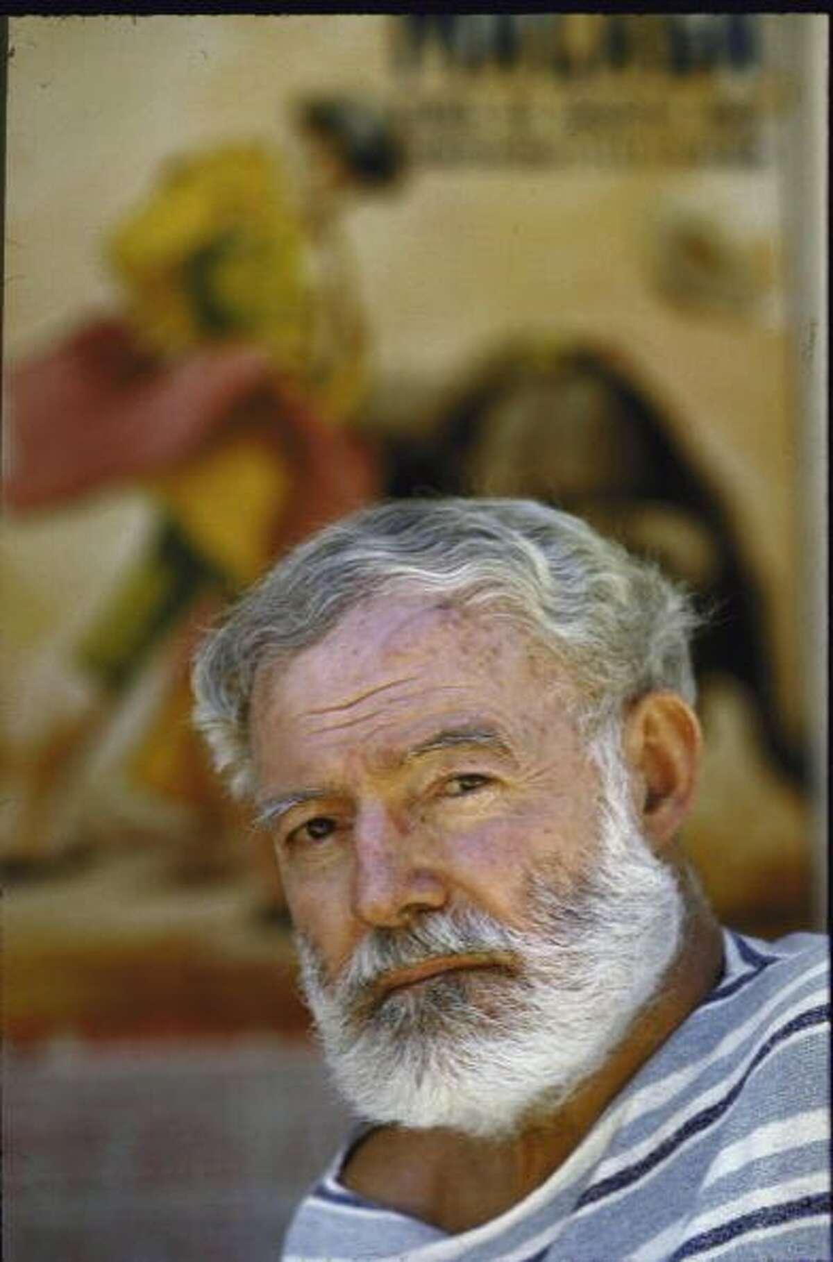 Ernest Hemingway nearMálaga,Spain, in 1960, a year before his death.