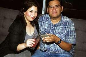 Deborah and David Mendez are having drinks at Artisan on Alamo.