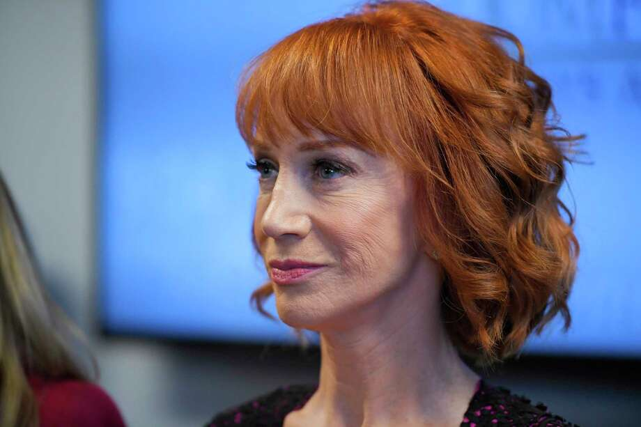 Comedian Kathy Griffin released a photo and video that shows her holding up a bloody fake Donald Trump head. Photo: Mark J. Terrill, Associated Press / Copyright 2017 The Associated Press. All rights reserved.