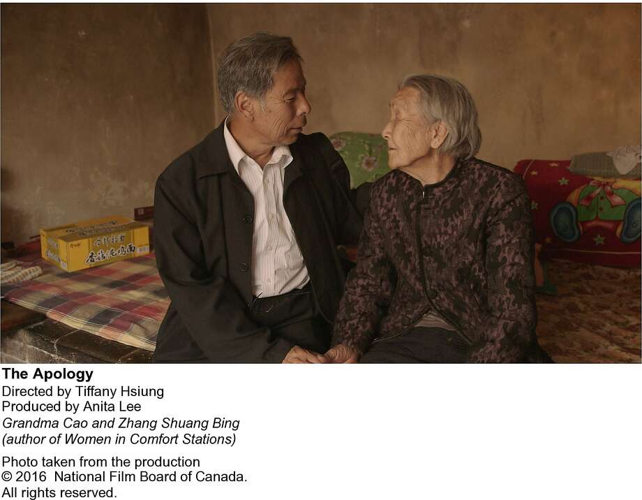 """Grandma Cao (right) meets with Zhang Shuang Bing in the doucmentary """"The Apology,"""" directed by Tiffany Hsiung. Photo: National Film Board Of Canada"""