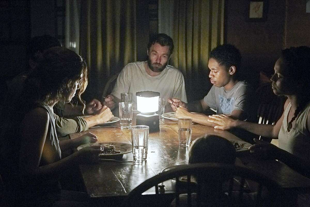 (L-r) Riley Keough, Christopher Abbott, Joel Edgerton, Kelvin Harrison Jr., Carmen Ejogo and Griffin Robert Faulkner in