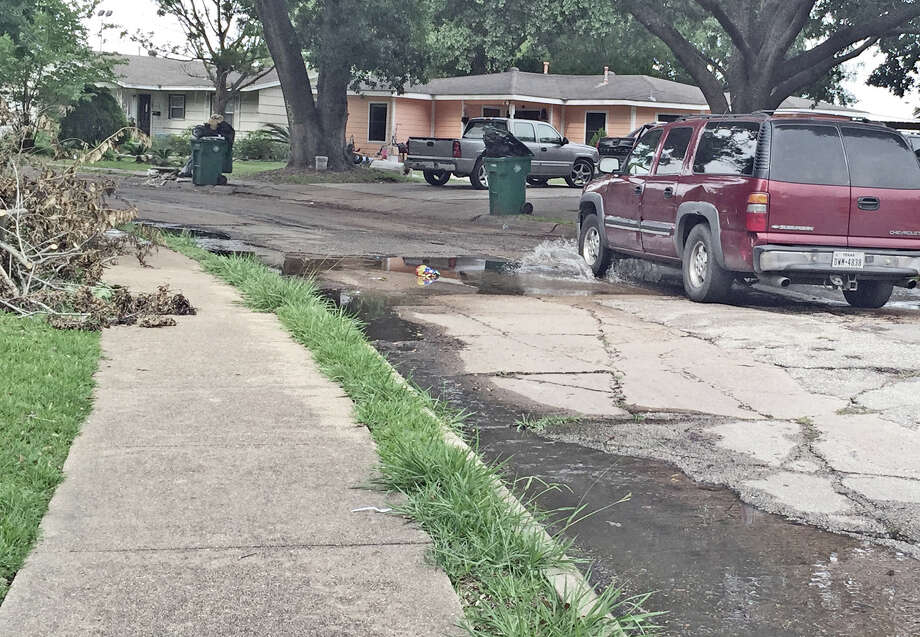West Lane in Pasadena's north side was the scene of a recent water main break that took more than a week for city workers to repair. Residents also compained that trash had not been collection and that the street needed repair.
