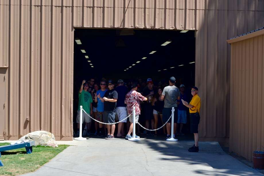 A line of people wait to enter the Firestone Walker Invitational Beer Festivalin Paso Robles, Calif. on June 3, 2017. Photo: Courtesy Niko Christensen For SFGATE