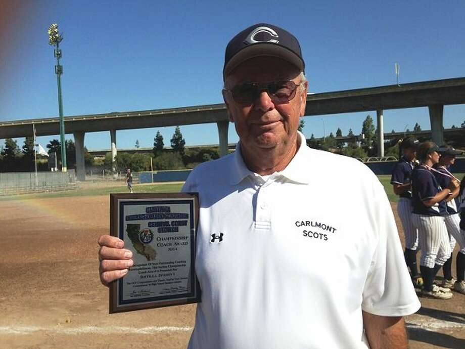 Jim Liggett won more than 1,000 softball games and eight CCS championships in 41 seasons at Carlmont-Belmont. Photo: Harold Abend, Prep2Prep