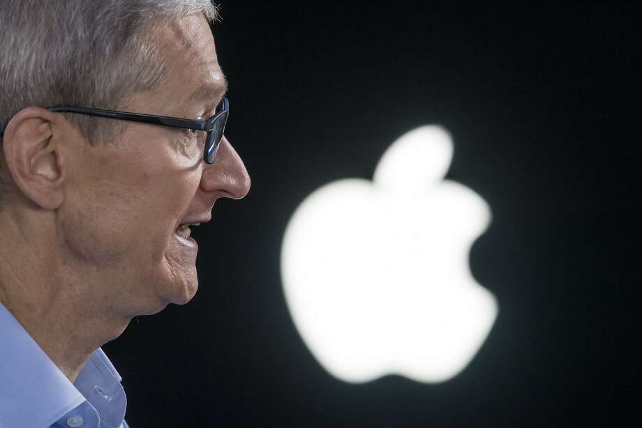 Tim Cook, chief executive officer of Apple Inc., speaks during a Bloomberg Technology television interview at the Apple Worldwide Developers Conference (WWDC) in San Jose, California, U.S., on Monday, June 5, 2017. Cook said the company has helped U.K. officials investigate terror attacks, while reiterating his dismay over U.S. plans to quit the Paris agreement on climate change. Photographer: David Paul Morris/Bloomberg Photo: David Paul Morris, Bloomberg