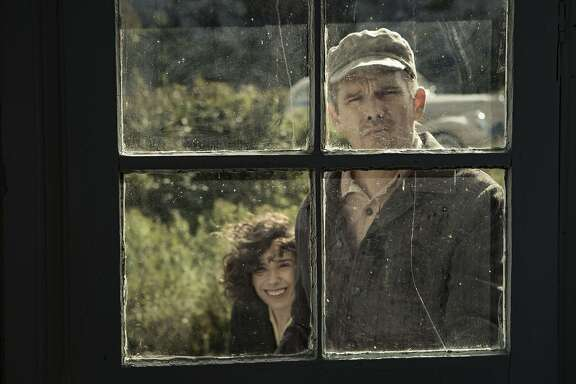 "Sally Hawkins (left) and Ethan Hawke in the upcoming Maudie Lewis biopic, ""Maudie."""