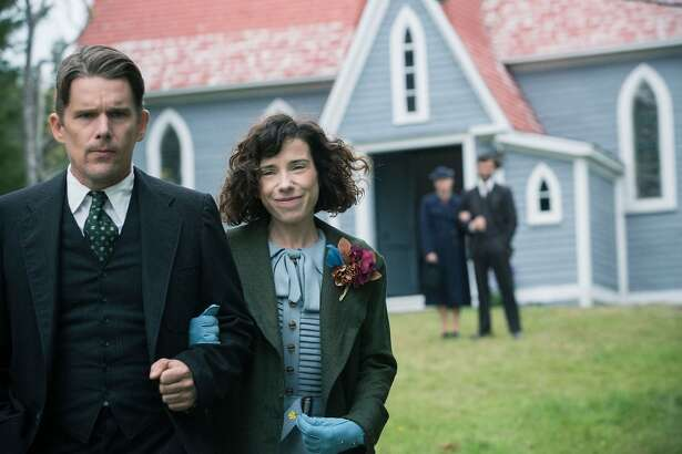 "Ethan Hawke (left) and Sally Hawkins in the upcoming Maudie Lewis biopic, ""Maudie."""