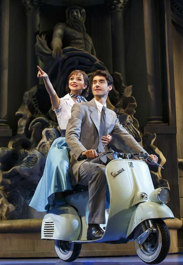 "From left: Stephanie Styles and Drew Gehling in SHN's ""Roman Holiday."" Photo: Joan Marcus, SHN"