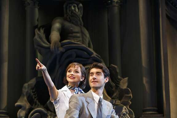 "From left:�Stephanie Styles and Drew Gehling in SHN's ""Roman Holiday."""