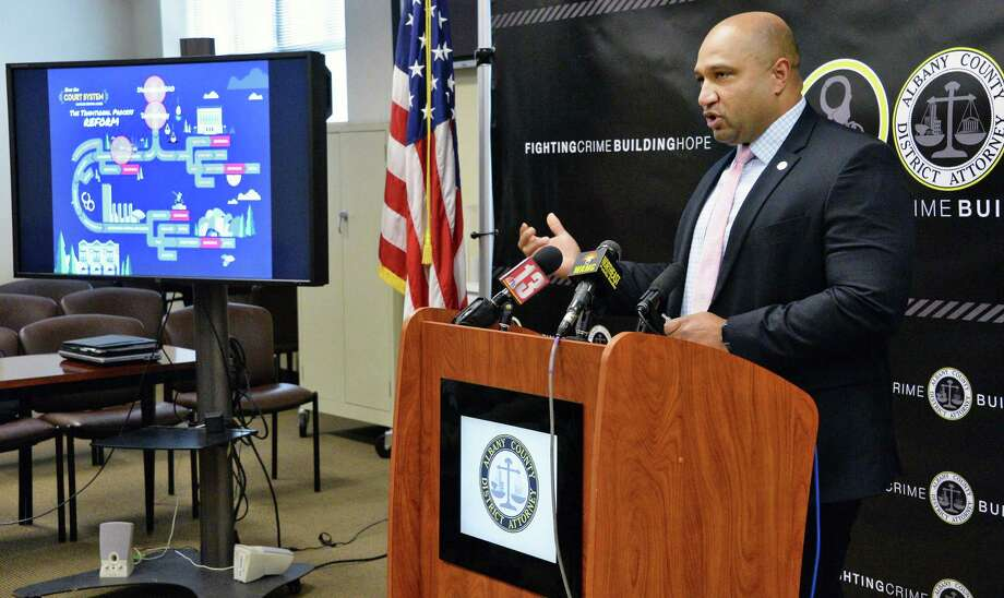 Albany County District Attorney David Soares announces a new series of criminal justice reforms Tuesday June 6, 2017 in Albany, NY.  (John Carl D'Annibale / Times Union) Photo: John Carl D'Annibale, Albany Times Union / 40040702A