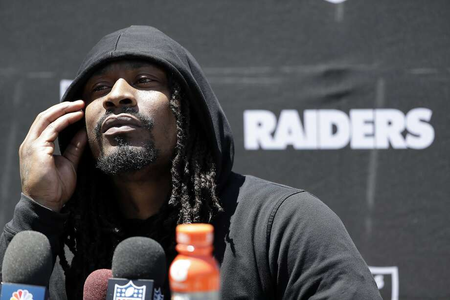 Marshawn Lynch said the Raiders' pending move to Las Vegas convinced him to play for the team in Oakland. Photo: Marcio Jose Sanchez, Associated Press