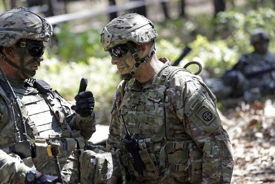 FILE PHOTO — In this photo taken Friday, April 21, 2017, troops get organized during a training exercise at Fort Bragg, N.C. Photo: Gerry Broome, Associated Press