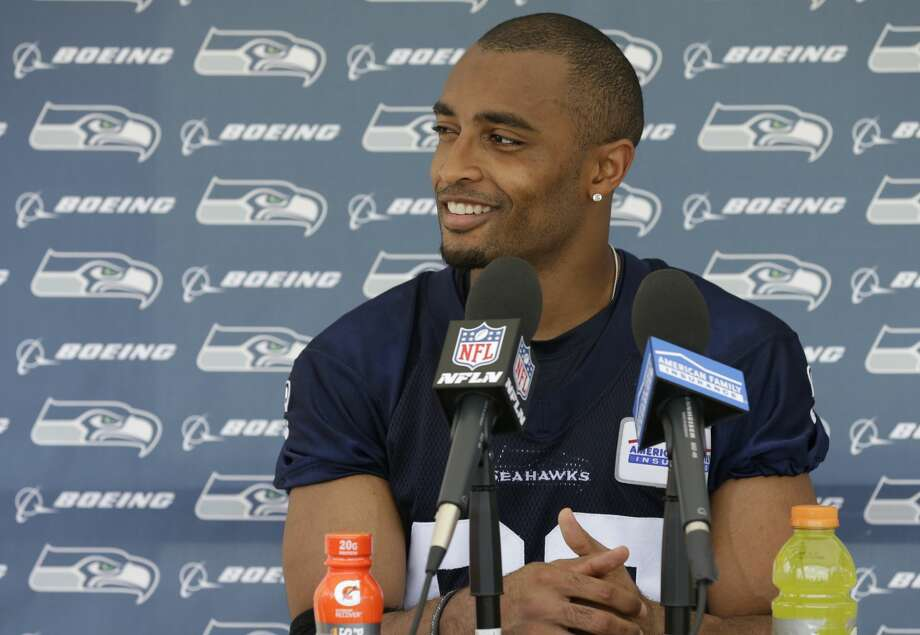 Seattle Seahawks wide receiver Doug Baldwin talks to reporters following NFL football practice, Tuesday, June 6, 2017, in Renton, Wash. (AP Photo/Ted S. Warren) Photo: Ted S. Warren/AP