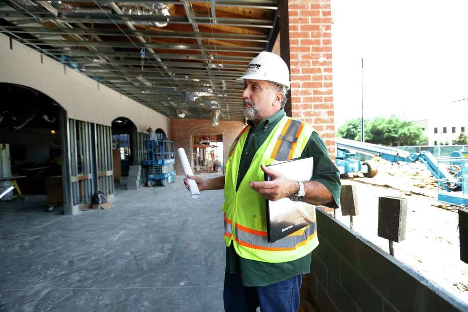 George Mickelis, owner of Cleburne Cafeteria, checks his new building as it nears completion at 3606 Bissonnet.  Photo: Karen Warren, Staff Photographer / 2017 Houston Chronicle