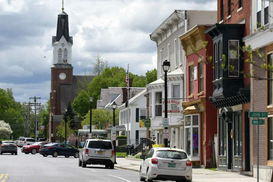 Main Street on Wednesday, May, 10, 2017, in Hoosick Falls, N.Y. (Will Waldron/Times Union) Photo: Will Waldron