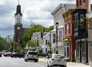Main Street on Wednesday, May, 10, 2017, in Hoosick Falls, N.Y. (Will Waldron/Times Union)