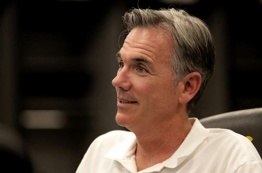 Billy Beane acknowp ledges that the team needs to change fans' frustrations by not only developing a good team, but also then keeping the players around. Photo: Michael Macor, The Chronicle