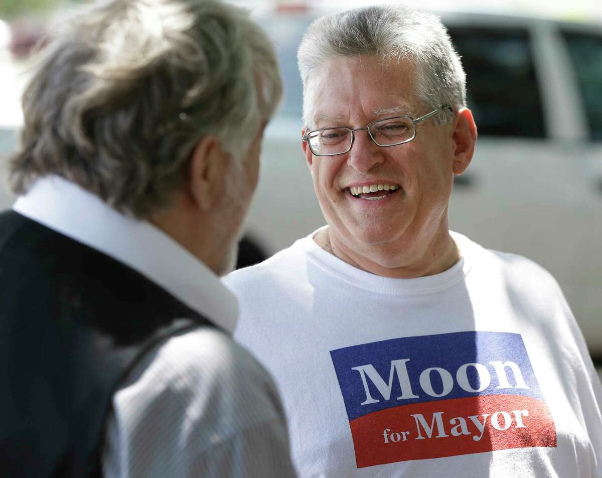 Pasadena mayoral candidates Jeff Wagner, at left, and John Moon Jr., at right, will face off Saturday in a runoff election. Wagner, widely seen as aligned with current Mayor Johnny Isbell, earned 38 percent of the vote in May; Moon received 18 percent.