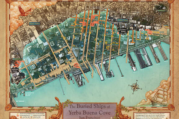 The final version of the new buried ship map will be released next month, San Francisco Maritime National Historical Park exhibit curator Richard Everett said. Some of the map's features are still being refined.