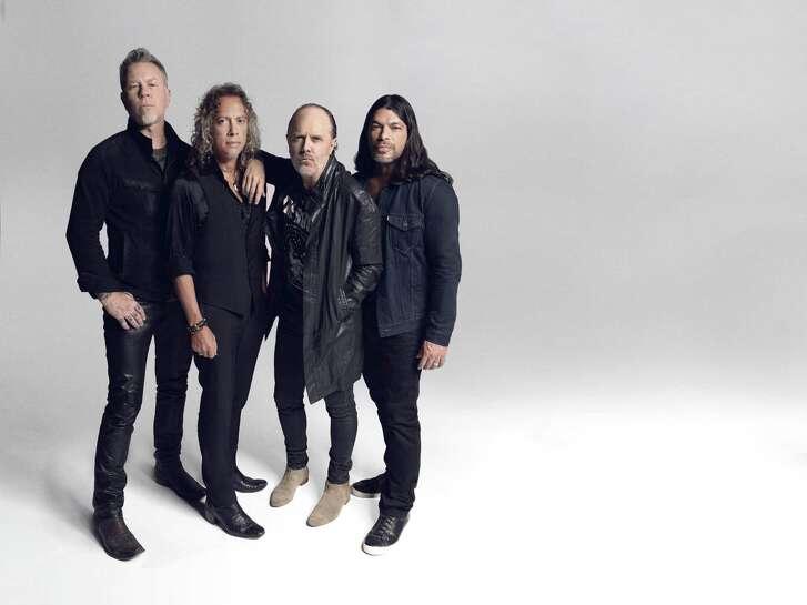 Metallica members, from left, James Hetfield, Kirk Hammett, Lars Ulrich, Robert Trujillo.