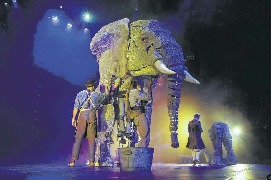 """Circus 1903,"" a touring circus with a turn-of-the-century vibe, includes elephants that are giant puppets designed by the creators of ""Warhorse."" Photo: Scott Levy / ©2017 MSG Entertainment Holdings, LLC. All rights reserved."