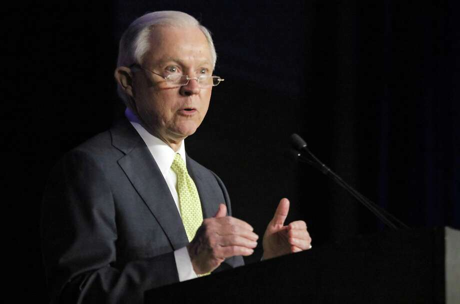 U.S. Attorney General Jeff Sessions speaks at the opening session of the National Law Enforcement Conference on Human Exploitation Tuesday in Atlanta. In a memo released early Wednesday, Attorney Sessions said he is ending the obscure practice that allowed companies to meet some of their settlement burdens by giving money to groups that were neither victims nor parties to the case. That money should go to the U.S. Treasury Department or victims, Sessions said. Photo: Bob Andres /Associated Press / 2017 Atlanta Journal Constitution