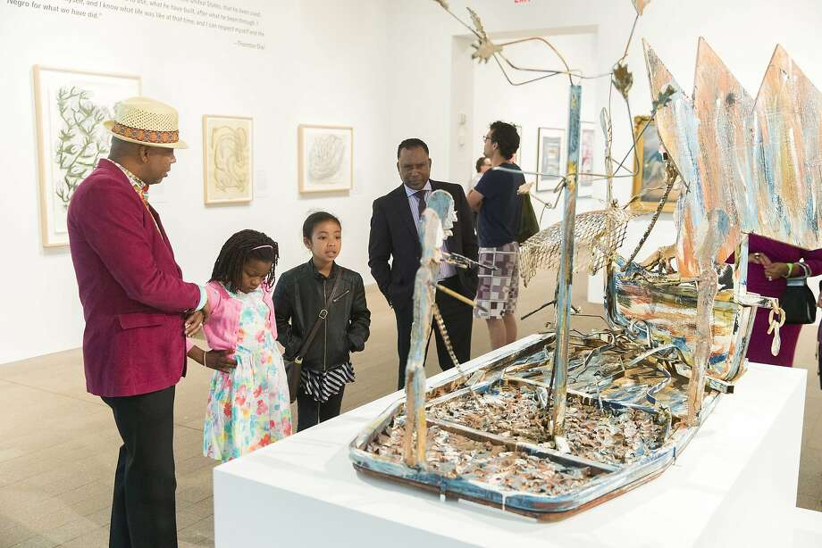 "Installation view of ""Revelations: Art from the African American South"" at the de Young museum. Photo: Drew Altizer Photography, Fine Arts Museums Of San Francisco"