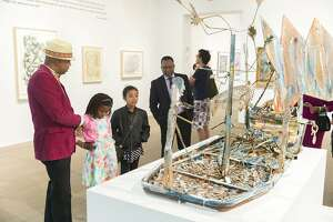 """Installation view of """"Revelations: Art from the African American South"""" at the de Young museum"""