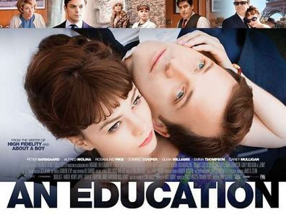 """An Education"" (2009)A young English schoolgirl falls in love with a much older conman. John Peter Sarsgaard: March 7, 1971 (age 46)Carey Mulligan: May 28, 1985 (age 32)Age difference: 14 years Photo: Film Poster Photo: Film Poster For ""An Education"""