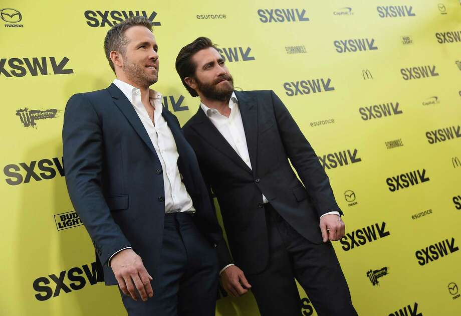 "Actors Ryan Reynolds and Jake Gyllenhaal attend the ""Life"" premiere during 2017 SXSW Conference and Festivals at the ZACH Theatre on March 18, 2017 in Austin, Texas. Two Democratic senators are calling on SXSW organizers to move the festival from Texas to protest the state's new sanctuary cities law. Photo: Michael Loccisano /Getty Images For SXSW / 2017 Getty Images"