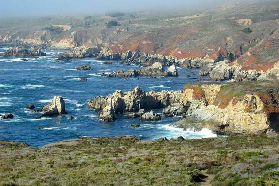 From Soberanes Point, the view across Garapatta Cove and beyond along the rock-strewn coast at Garapatta State Park