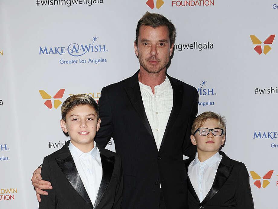 Gavin, Kingston and Zuma Rossdale attend the 4th annual Wishing Well winter gala at Hollywood Palladium. / 2016 Jason LaVeris