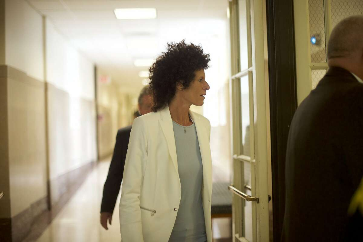 NORRISTOWN, PA - JUNE 7: Bill Cosby accuser Andrea Constand arrives at the Montgomery County Courthouse on the third day of Cosby's sexual assault trial June 7, 2017 in Norristown, Pennsylvania. A former Temple University employee alleges that the entertainer drugged and molested her in 2004 at his home in suburban Philadelphia. More than 40 women have accused the 79 year old entertainer of sexual assault. (Photo by Mark Makela/Getty Images)