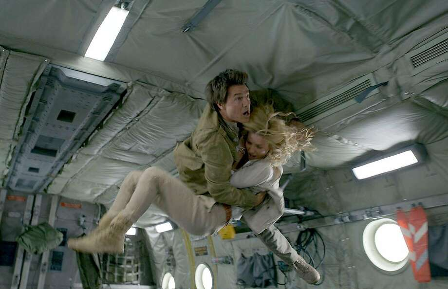 "Tom Cruise and Annabelle Wallis in ""The Mummy."" Photo: Universal Pictures"