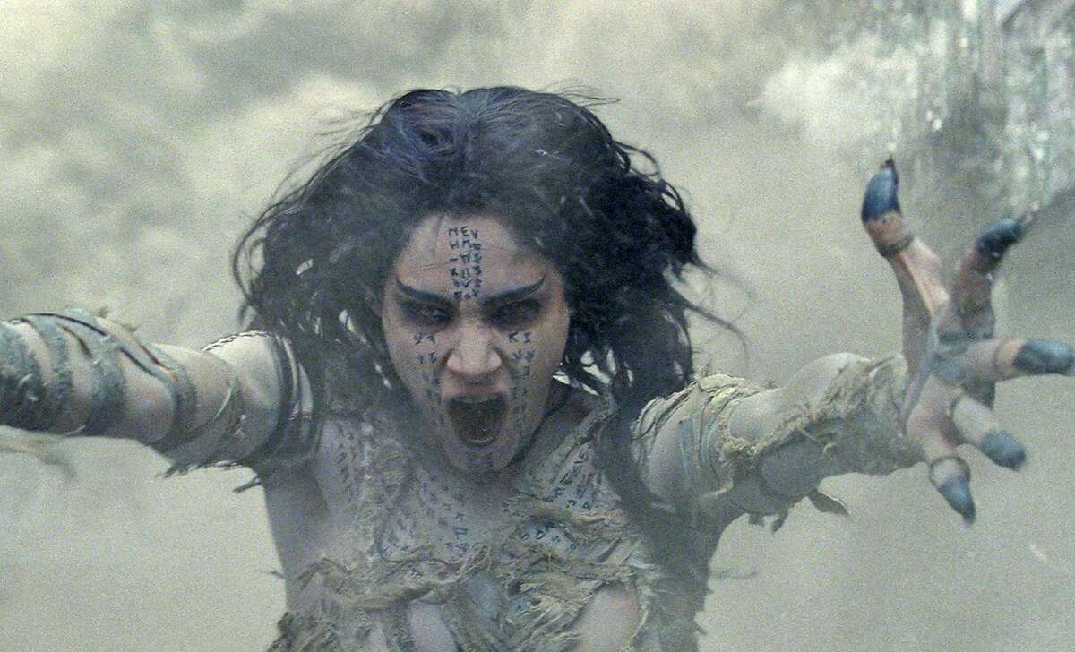"""Sofia Boutella stars in """"The Mummy."""" This monster flick starts in the Middle East but ends up mostly involving chase scenes with the mummy on the loose in England, kissing innocent people to death, then reanimating them. MUST CREDIT: Universal Pictures"""