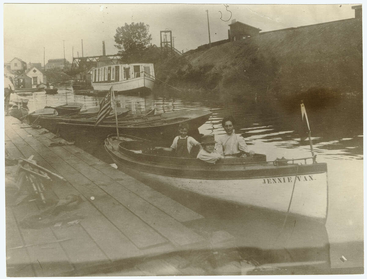 Erie Canal on Bridge Street North Albany c. 1910 Albany Institute of History & Art Library