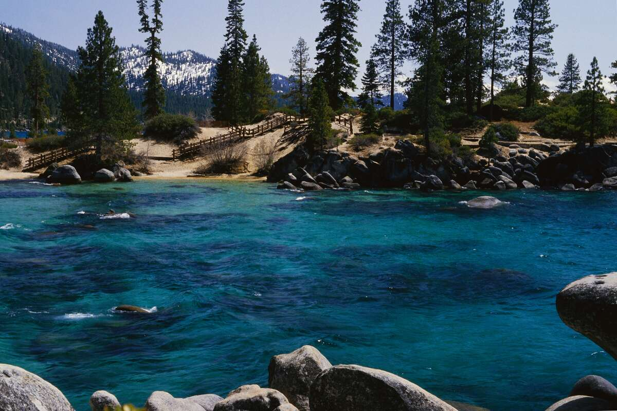 Lake Tahoe is discouraging tourists from flocking to its beaches amid a California shelter-in-place order.
