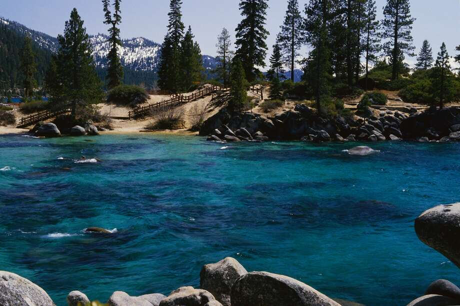 Lake Tahoe is discouraging tourists from flocking to its beaches amid a California shelter-in-place order. Photo: Mick Roessler/Getty Images