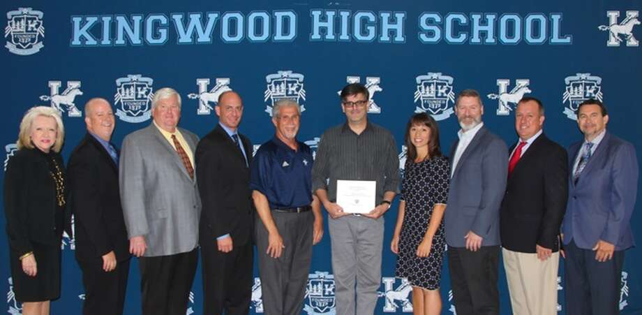 Kingwood High German teacher presented with the Sterling Shining Star Award. Photo: Courtesy Photo