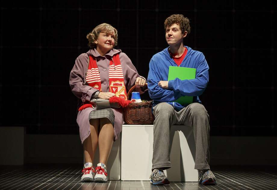 "Amelia White as Mrs. Alexander and Adam Langdon as Christopher Boone in the touring production of ""The Curious Incident of the Dog in the Night-Time.""  Photo: Joan Marcus"